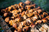 Shashlik (shaslik) - traditional russian barbecue. — 图库照片