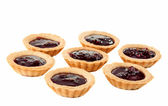 Tartlets with jam — Stock Photo