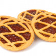 Stock Photo: Pie with berry filling isolated