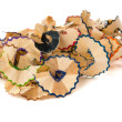 Wood shavings from a pencil — Stock Photo #29640365
