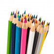 Stock Photo: Colour pencils isolated