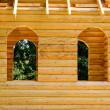 Fragment of a wooden house — Stockfoto