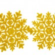 Stock Photo: Golden snowflake isolated