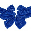 Blue christmas bows  — Stock Photo