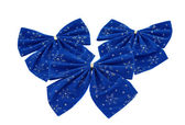 Blue christmas bows — Foto de Stock