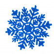 Blue snowflakes isolated — Stock Photo
