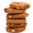 Cookies with chocolate and nuts — ストック写真