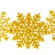 Golden snowflake isolated — Stock Photo