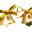 Christmas bells isolated  — Stockfoto
