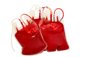 Bag of blood and plasma isolated — Stock Photo