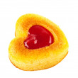 Muffin heart isolated — Stock Photo