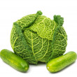 Savoy cabbage isolated  — Stock Photo
