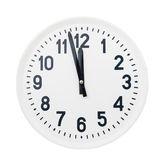 Big clock isolated — Stock Photo