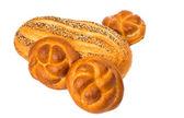 Fresh sweet white bread isolated — Stock Photo