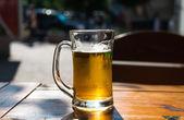Beer mugs close-up — Stock Photo