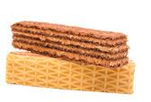 Waffles isolated — Stock Photo