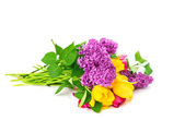 Tulip bouquet of lilacs — Stock Photo