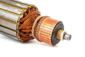 Copper Coils inside Electric Motor  — Stock Photo