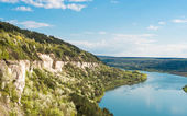 Spring landscape of the Dniester River — Stock Photo