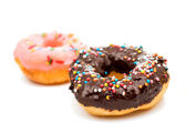 Donuts with glaze — Stock Photo