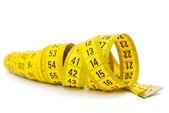 Yellow measuring tape  — Stock Photo