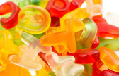 Alphabet jelly candies — 图库照片