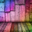 Colorful vintage wooden background — Stock Photo #1656014