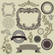 Collection of vintage design elements — Stock Vector #11985015