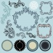 Collection of vintage design elements — Stock Vector #11985020