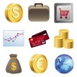 Royalty-Free Stock Vector Image: Collection with bright finance icons
