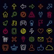 Technology icons and signs — Stock Vector