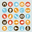 Set of vector stickers with pet icons — Stock Vector #13465429