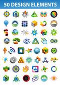 знаки и символы для фирменного стиля — Cтоковый вектор