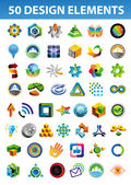 Işaret ve sembolleri için kurumsal kimlik — Stok Vektör