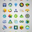 Set of bright signs and symbols — Vector de stock