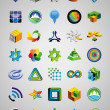 Set of bright signs and symbols — Imagen vectorial