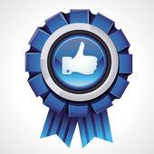 Vector como firmar en icono de premio brillante — Vector de stock