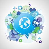 Vector social media concept — Stock Vector