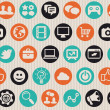 Seamless pattern with internet icons — Stock vektor