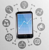 Concepto de la comercialización de internet — Vector de stock