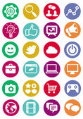 Vektorové ikony internet a technologie — Stock vektor