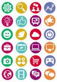 Vetor ícones de internet e tecnologia — Vetorial Stock