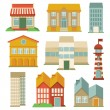 Vector set with buildings icons - Image vectorielle