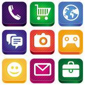 Vecteur lumineux app icônes — Vecteur