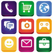Vetor ícones brilhantes app — Vetorial Stock