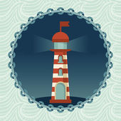 Vector lighthouse illustration — Stock Vector