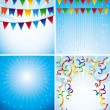 Vector holiday backgrounds - Imagen vectorial