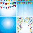 Vector holiday backgrounds - Image vectorielle