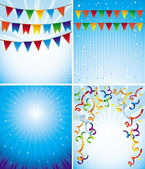 Vector holiday backgrounds — Stock Vector
