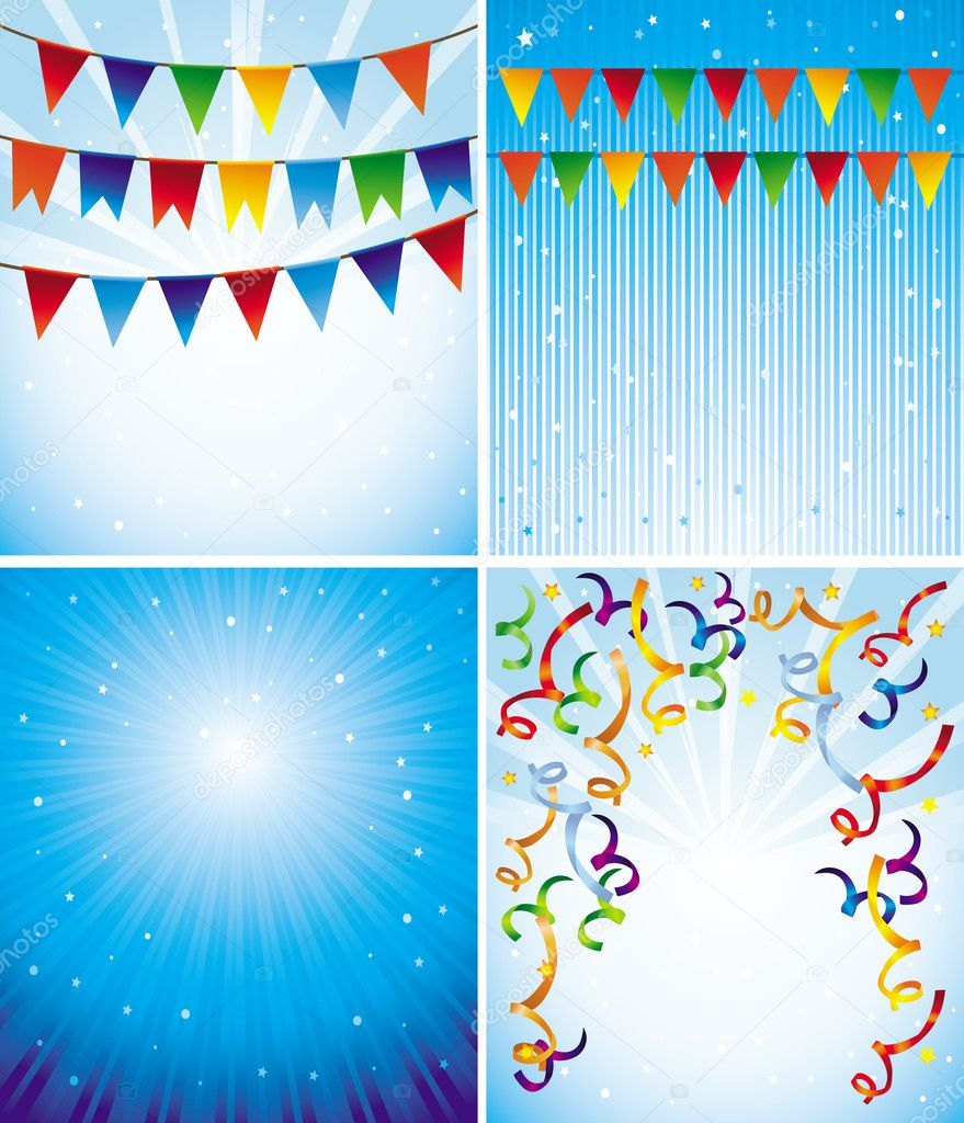 Vector holiday backgrounds for greeting cards and invitations — Stock Vector #14004067